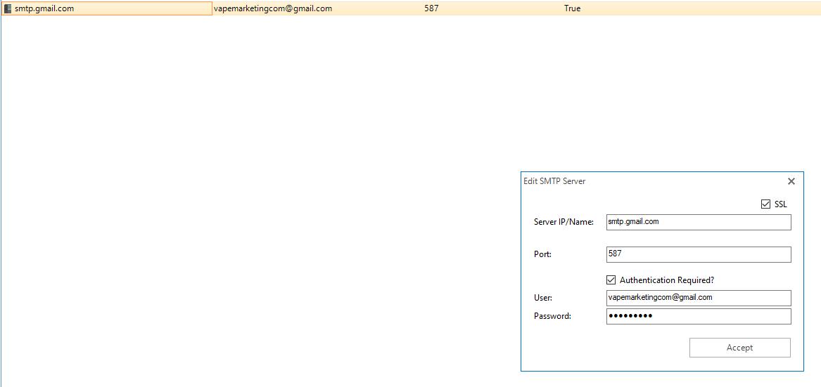 SMTP Creds Correct